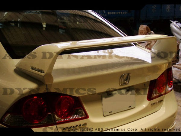 06-11 HONDA CIVIC 4DR MUGEN STYLE TRUNK SPOILER WING