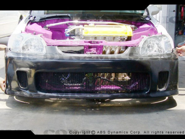 1996-1998 Honda Civic BACK YARD SPECIAL STYLE Front Bumper BYS Style (fiberglass/carbon)