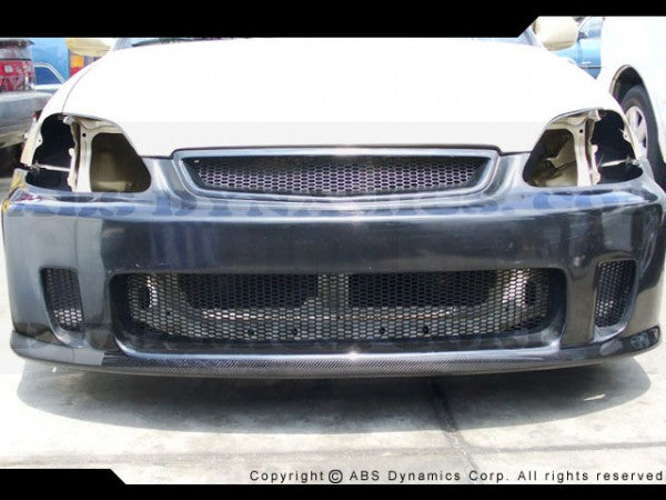 1999-2000 Honda Civic BACK YARD SPECIAL STYLE Front Bumper BYS Style (fiberglass/carbon)