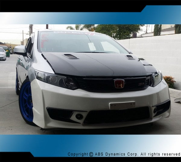2012-2014 HONDA CIVIC 4DR JDM TYPE-R FRONT BUMPER COVER W/ PP
