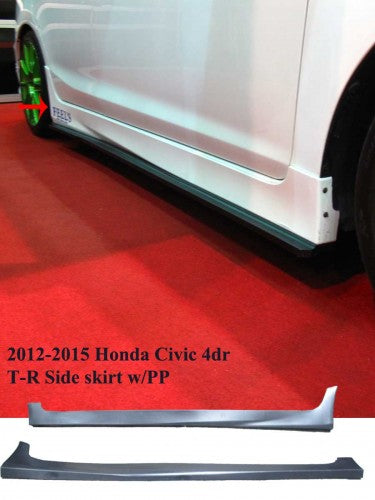 12-14 HONDA CIVIC 4DR JDM TYPE-R SIDE SKIRT SET 2PCS W/ PP