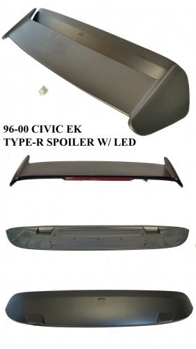 96-00 HONDA CIVIC 3DR TYPE-R WITH LED TRUNK SPOILER WING ABS PLASTIC