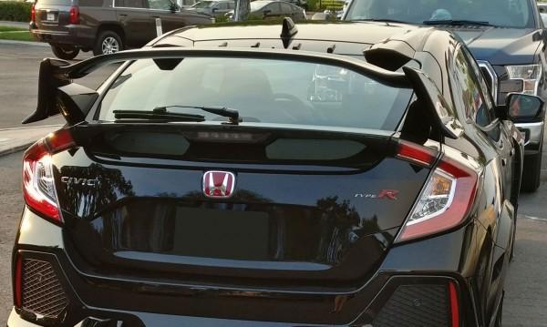 17-20 HONDA CIVIC 5DR TYPE-R REAR TRUNK LID SPOILER FULL CARBON FIBER