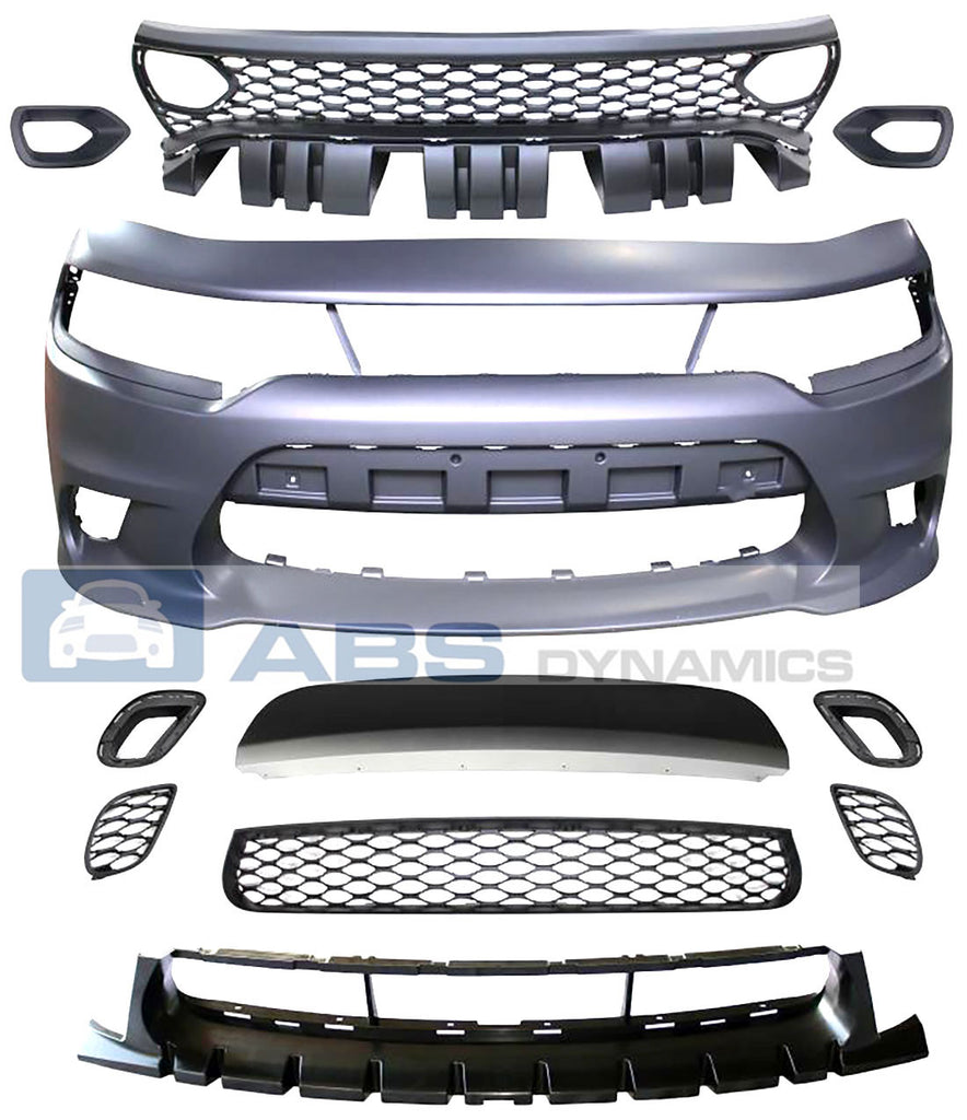 15-21 DODGE CHARGER SRT-8 HELLCAT STYLE FRONT BUMPER W/ SP AIR DUCT GRILL