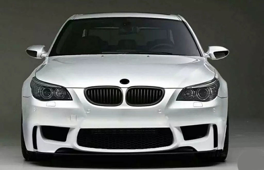 04-10 BMW E60 1M STYLE FRONT BUMPER COVER WITH FOGLIGHT COVER AND DELETE.
