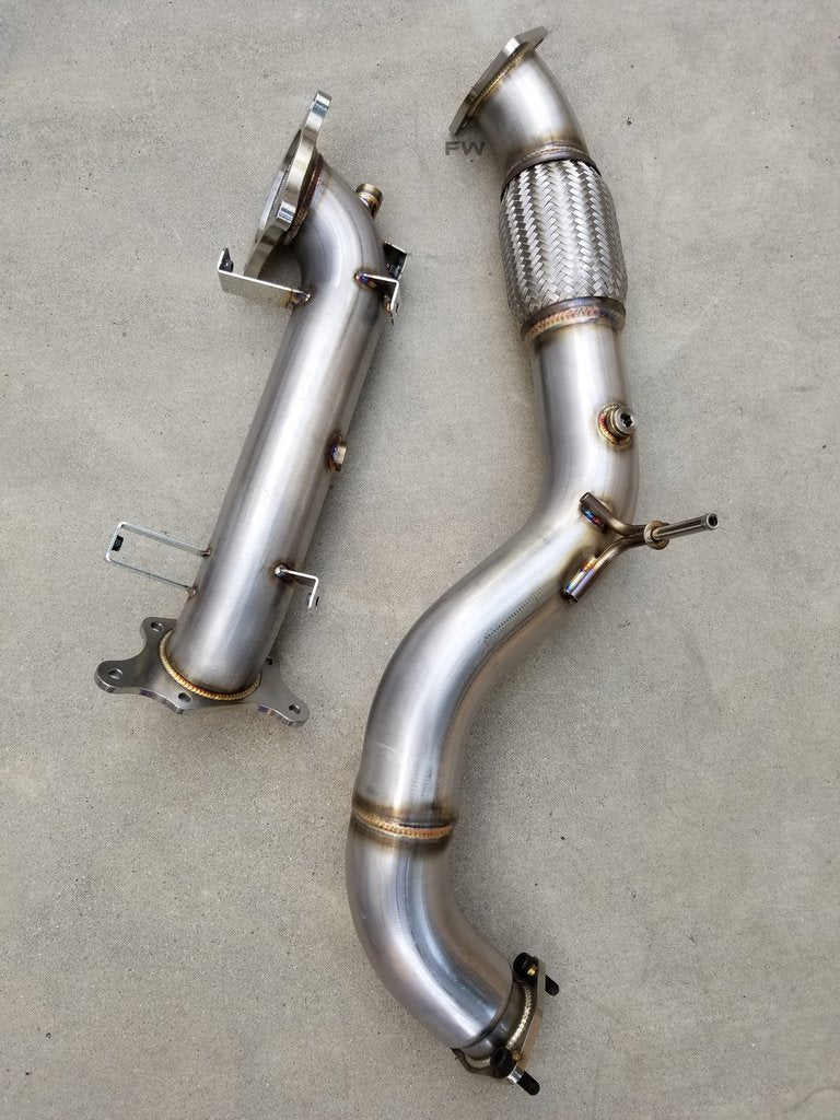 "17-20 HONDA CIVIC 2.0L TURBO RACE PERFORMANCE DOWN PIPE/ FRONT PIPE (3"") COMBO EXHAUST"