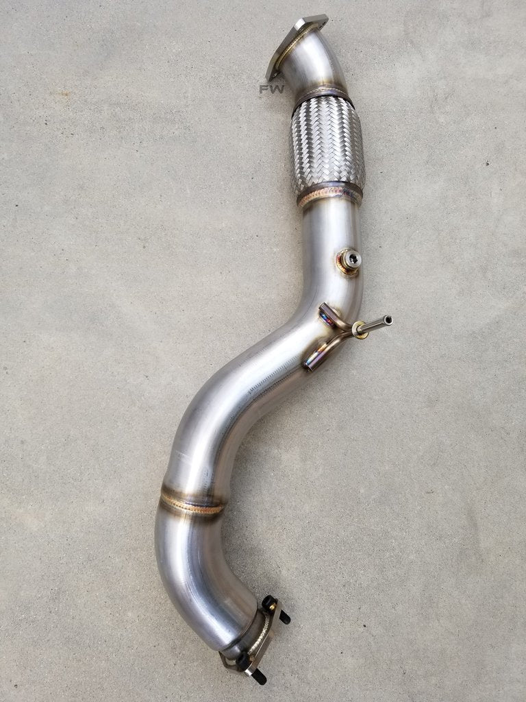"17-20 HONDA CIVIC 2.0L TURBO STREET PERFORMANCE DOWN PIPE 200 CELL / FRONT PIPE (3"") COMBO EXHAUST"
