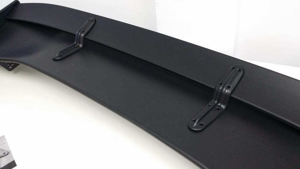 UNIVERSAL 61'' BLACK VOLTEX 3 STYLE TRUNK REAR GT WING BOOT SPOILER PLASTIC