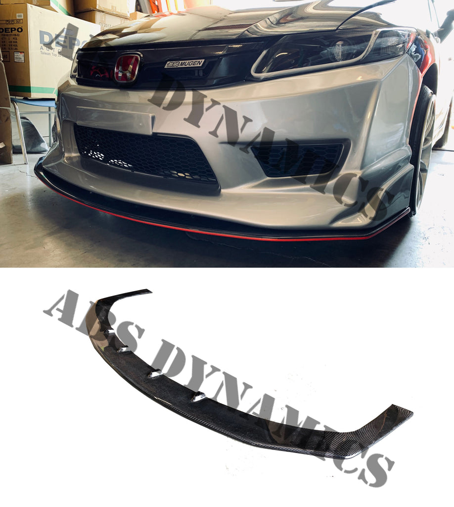 2012-2014 HONDA CIVIC CARBON FIBER SPLITTER FOR JS FRONT LIP