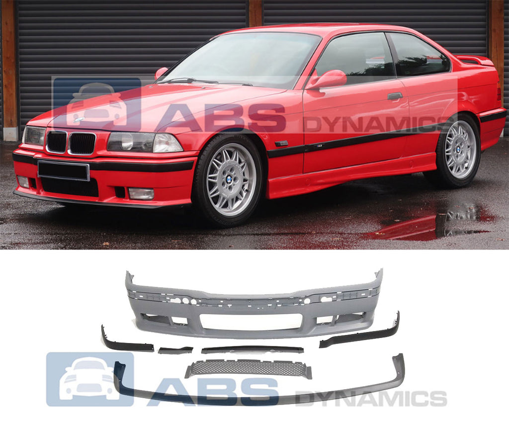92-99 BMW E36 3-SERIES M3-STYLE FRONT BUMPER COVER W/ REMOVABLE FRONT LIP