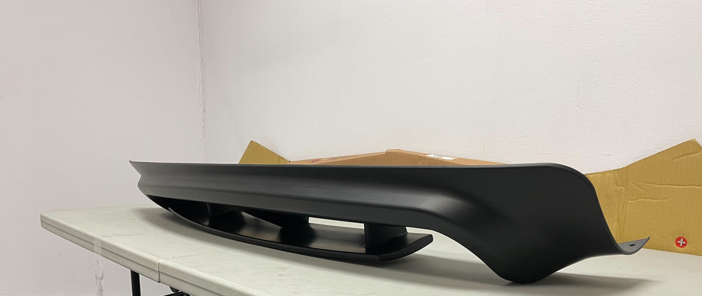 06-11 Honda CIvic 4dr Rear Bumper Diffuser Mugen Style for Type-R Rear Bumper Only (Black Unpaint)