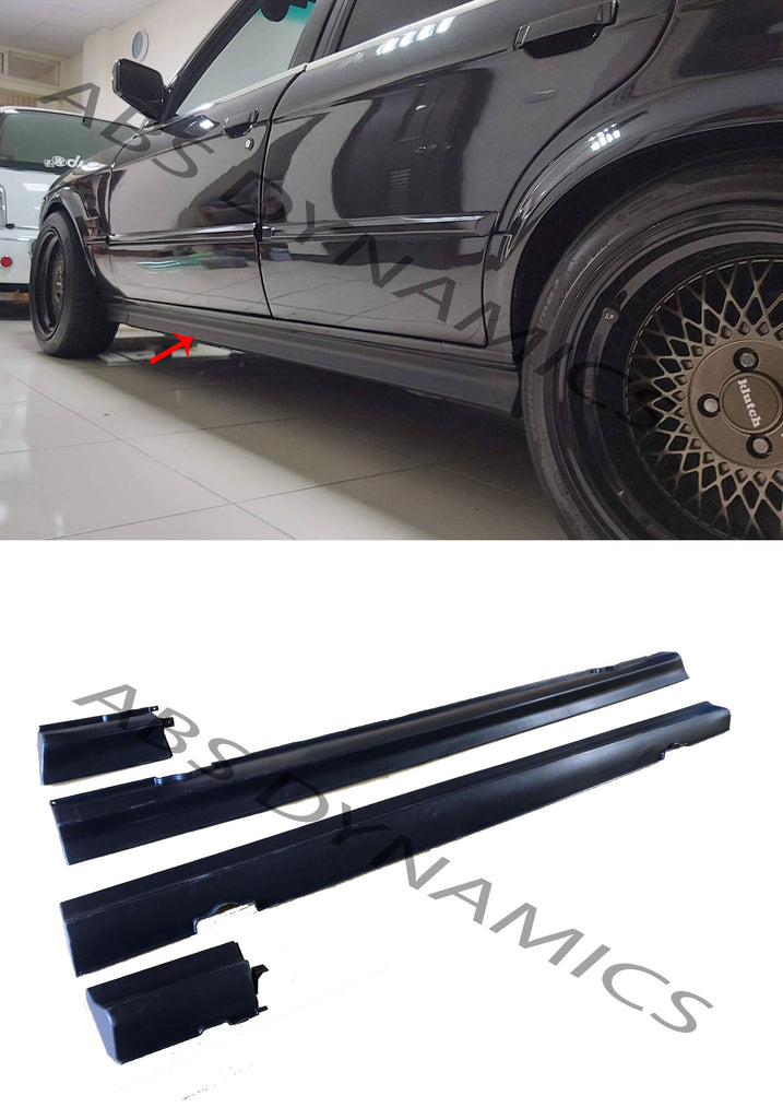 87-91 BMW E30 3-SERIES IS STYLE 318IS/ 325IS SIDE SKIRT ROCKET PANEL 4PCS PLASTIC