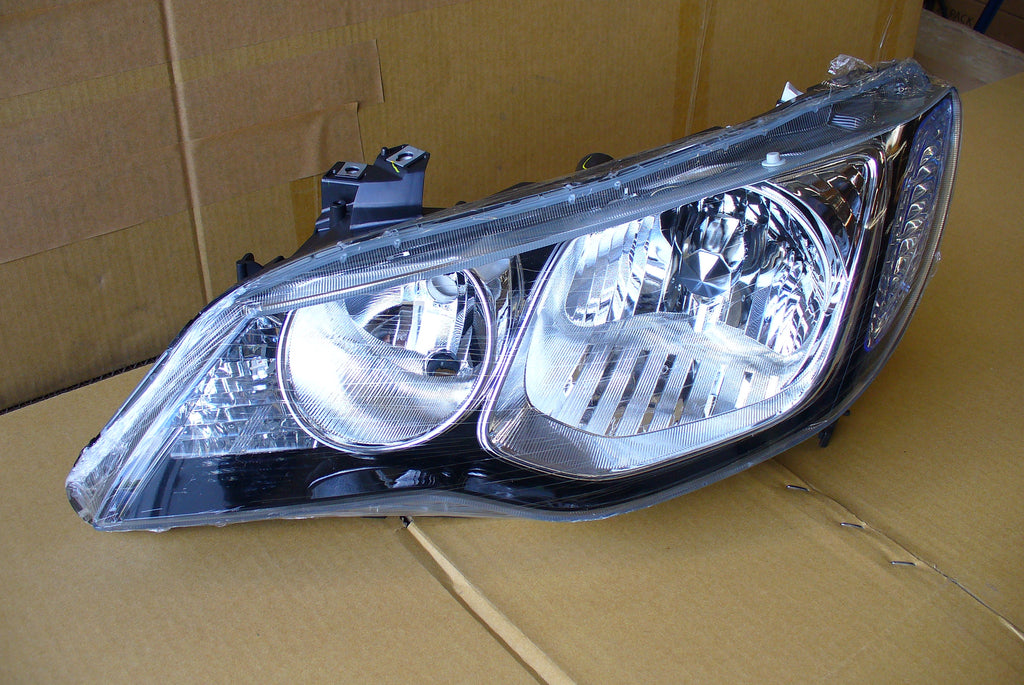 06-11 HONDA CIVIC 4D HEADLIGHT JDM BLACK HOUSING SET