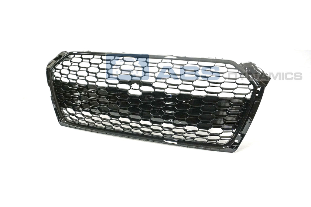 18-19 AUDI A5 S5 B9 RS5 STYLE FRONT GRILLE (GLOSS BLACK FRAME/HONEYCOMB)
