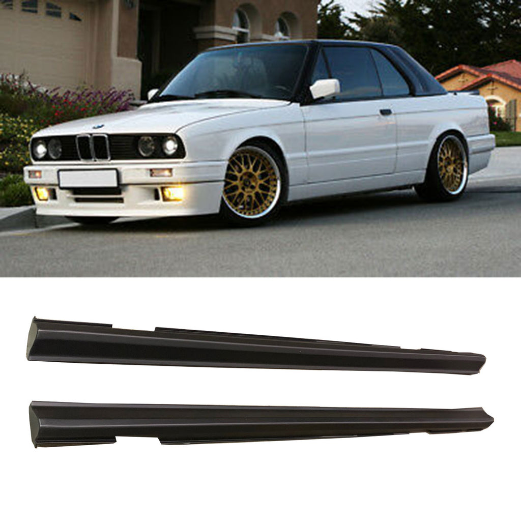 84-91 BMW E30 3-SERIES MTECH 2 SIDE SKIRT ROCKET PANEL 2PCS PLASTIC
