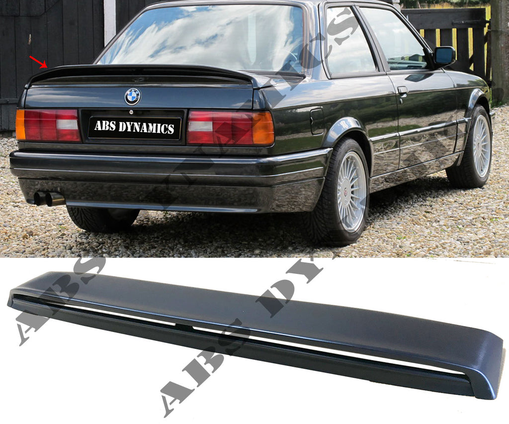 84-91 BMW E30 3-SERIES MTECH 2 REAR TRUNK SPOILER ABS