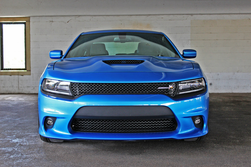 15-21 DODGE CHARGER SRT-8 HELLCAT STYLE FRONT BUMPER W/ GRILL W/ FOGLIGHT COVERS