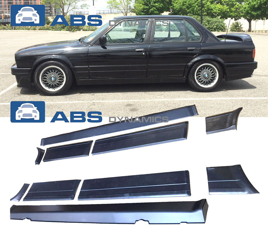 87-91 BMW E30 3-SERIES SEDAN 4DR SEDAN M-TECH 2 DOOR PANEL + SIDE SKIRT (10PCS KIT)