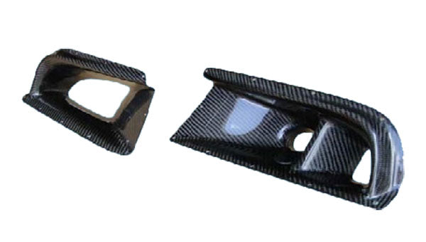 03-05 MITSUBISHI EVOLUTION VIII EVO 8 CARBON FIBER BUMPER AIR DUCT SET.