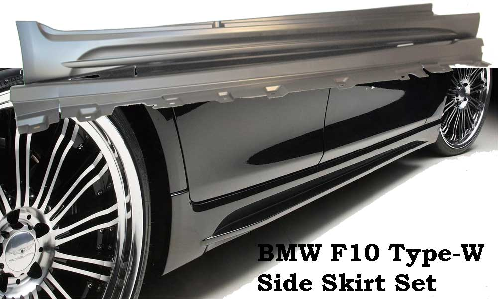 BMW 10-15 F10 5 SERIES WALD STYLE SIDE SKIRT 2PCS PP UNPAINT