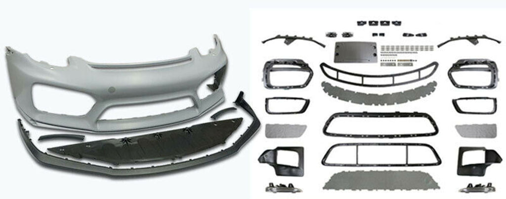 13-16 PORSCHE 981 BOXSTER CAYMAN GT4-STYLE FRONT BUMPER COVER W/ DRL W/O HL WASHER