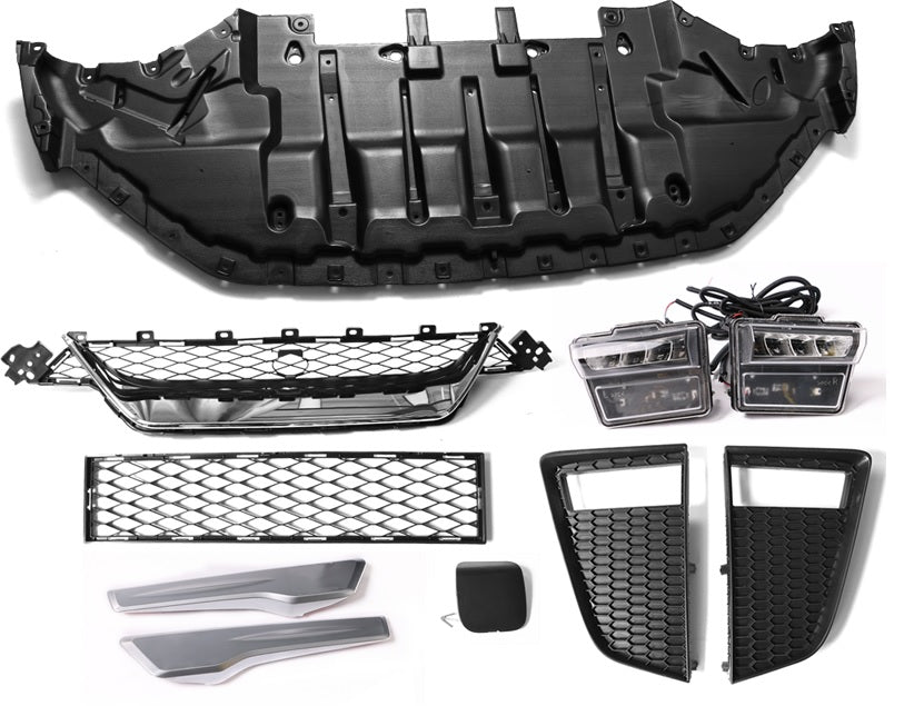 09-19 NISSAN GTR 17 FACELIFT FRONT BUMPER + DRL KIT, REAR BUMPER AND SIDE SKIRT FULL BODY KIT PP