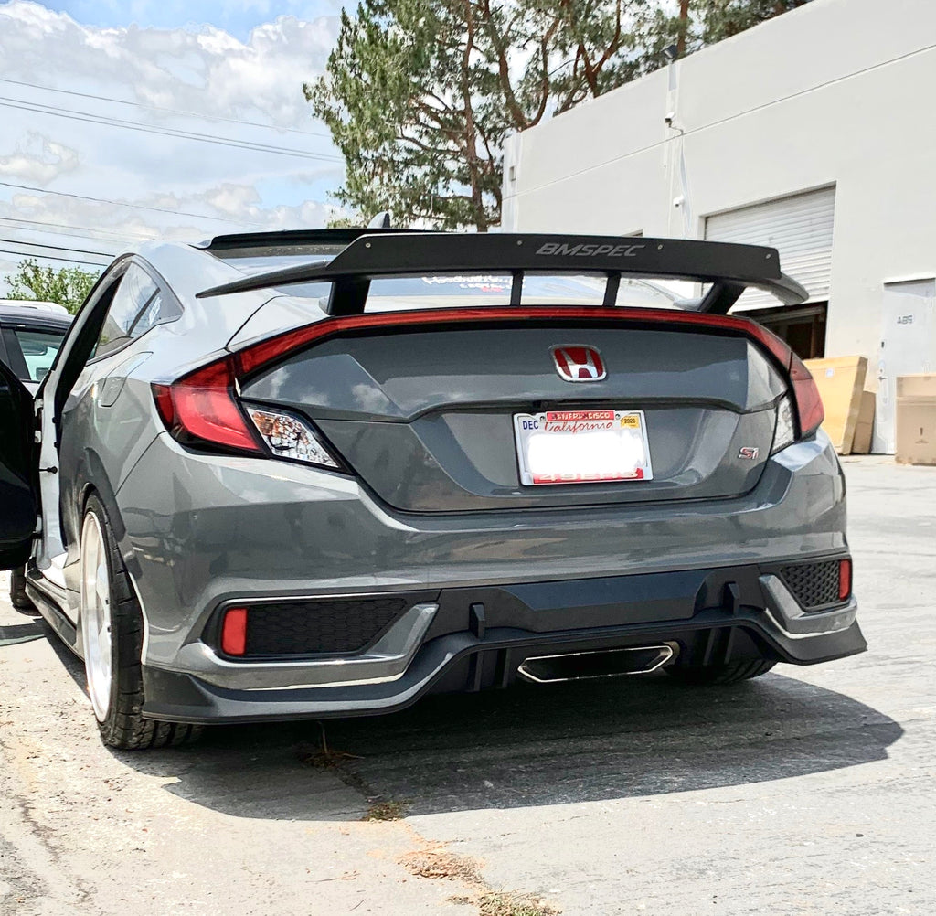 17-20 HONDA CIVIC 10 GEN 2D ALL TYPE-R STYLE REAR DIFFUSER PP UNPAINT