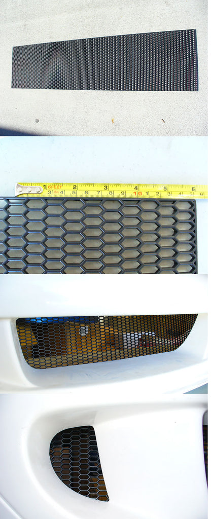 UNIVERSAL ABS PLASTIC RACING HONEYCOMB MESH GRILL SHEET 47X11.75""