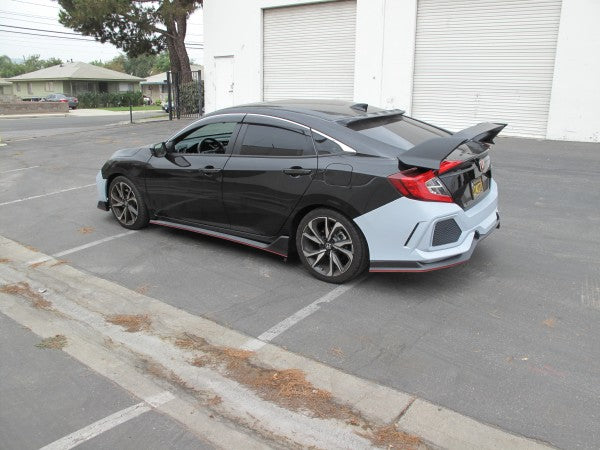 16-20 HONDA CIVIC 4DR TYPE-R STYLE FULL BODY KIT & HOOD PP
