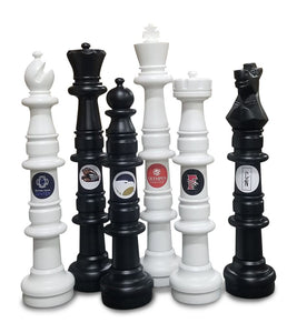 MegaChess Custom 49 Inch Plastic Giant Chess Set - LawnGames