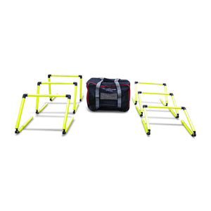 Uber Soccer Adjustable Height Step Training Speed Hurdle Set - LawnGames