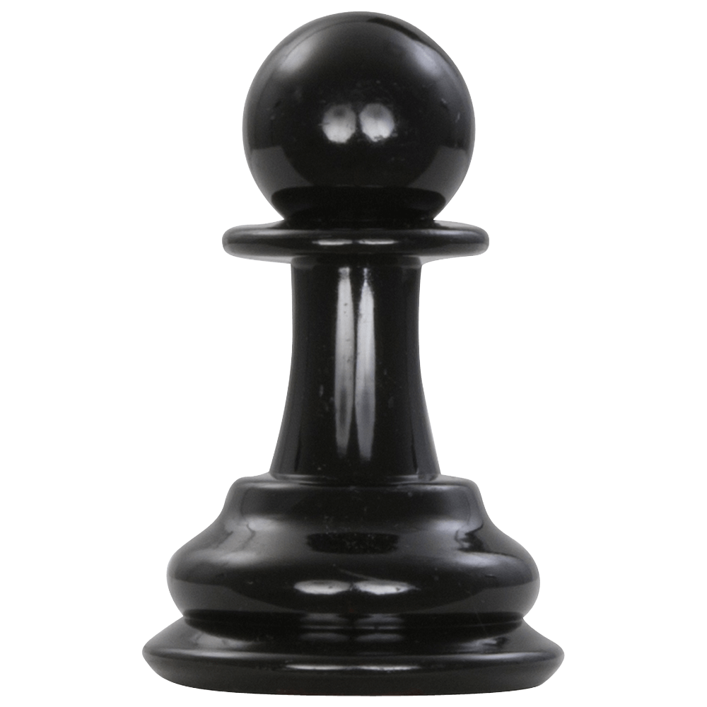 MegaChess 4 Inch Dark Plastic Pawn Giant Chess Piece