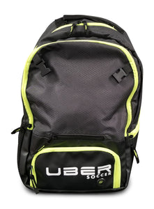 Uber Soccer Select Backpack with Ball Net - Black/Green - LawnGames