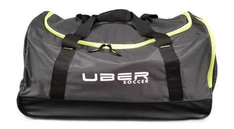 Uber Soccer Players Bag with Trolley - Black and Green - LawnGames