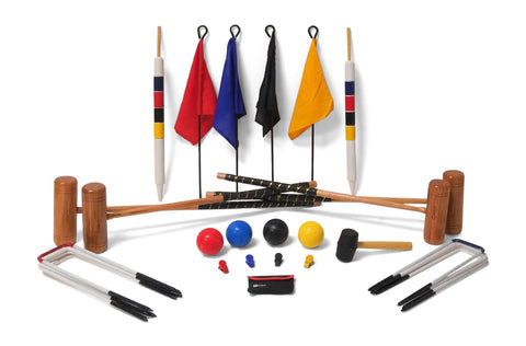 Professional Croquet Set - 4 Player - 9 Hoop Version - LawnGames