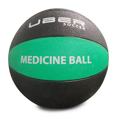 Uber Soccer Medicine Ball - 3kg (6lbs) - Green/Black - LawnGames
