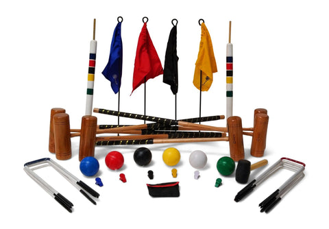 Professional Croquet Set 6 Player 9 Hoop Version - LawnGames
