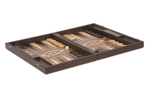 Uber Games Walnut Burl Backgammon Set