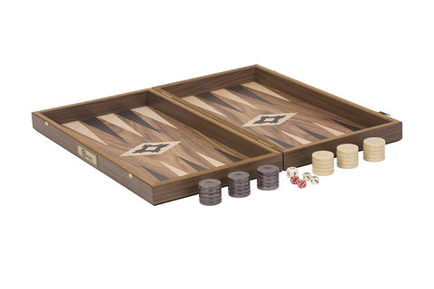 Uber Games Walnut Backgammon Set