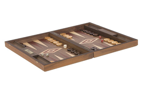 Uber Games Walnut Backgammon Set - Red - LawnGames