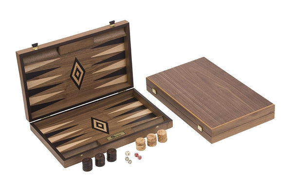 Uber Games Walnut Backgammon Set - Black