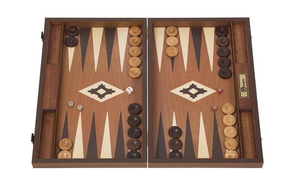 Uber Games Mahogany Backgammon Set