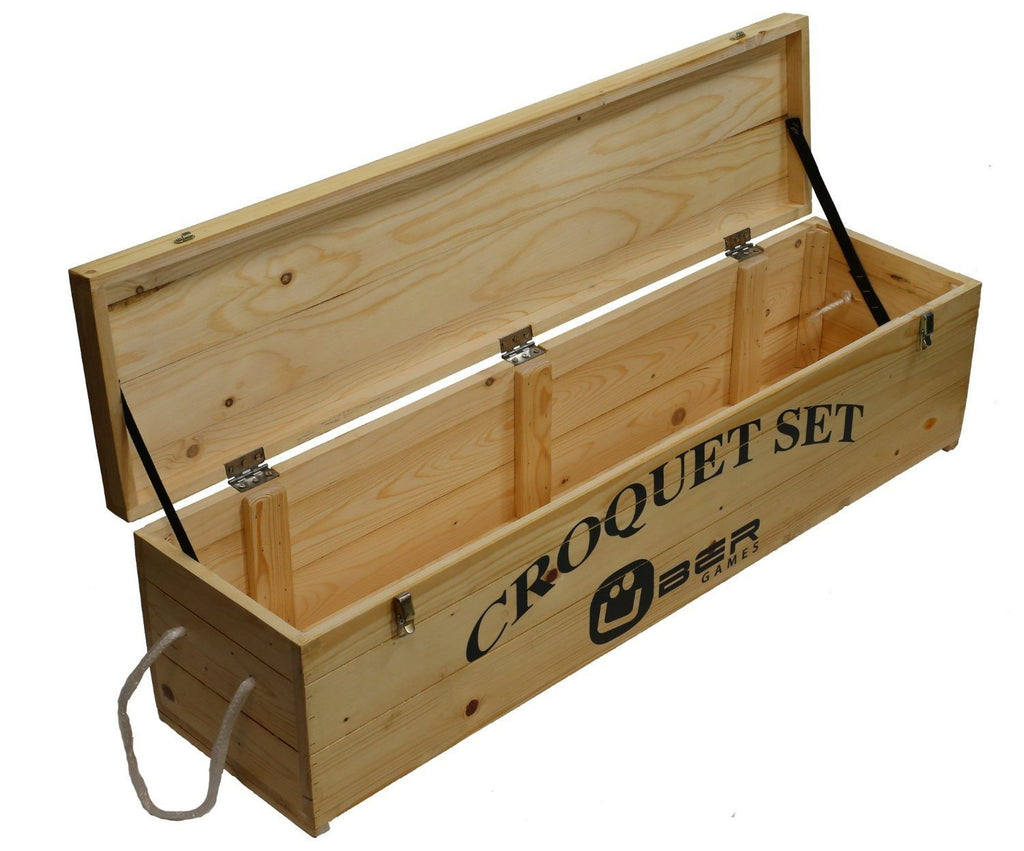 Uber Games Wooden Croquet Storage Box - 4 Player