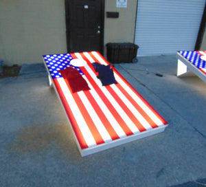 Jumbo Light Up 8x4 Cornhole Boards Set - LawnGames