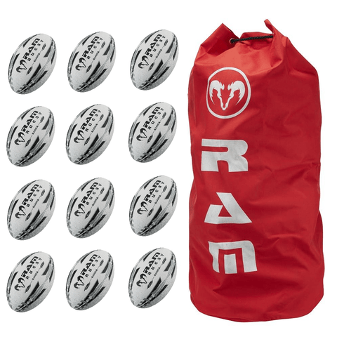 Ram Rugby Raider Match Ball Bundle 12 Pack - LawnGames