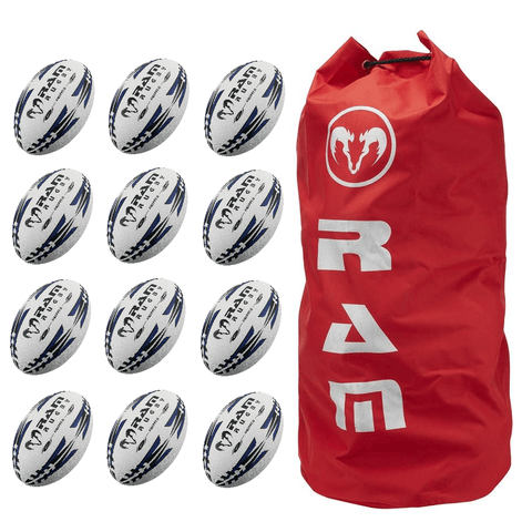 Ram Rugby Gripper Pro Training Ball Bundle 12 Pack - LawnGames