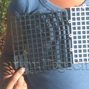 "Chess Square Plastic with 6"" Squares Black"