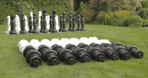 MegaChess Set of 12 Inch Plastic Extensions To Lengthen Giant Chess Pieces - LawnGames