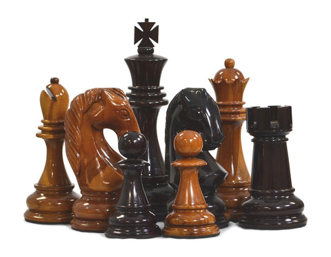 MegaChess 16 Inch Teak Giant Chess Set - LawnGames