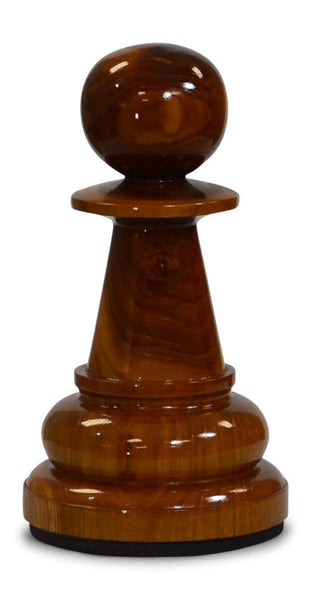 MegaChess 12 Inch Light Teak Pawn Giant Chess Piece - LawnGames